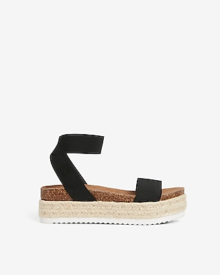 Stretch Strap Platform Espadrille Sandals by Express