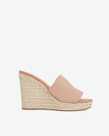 ff9264dc1b9 Woven Slide Espadrille Wedge Sandals
