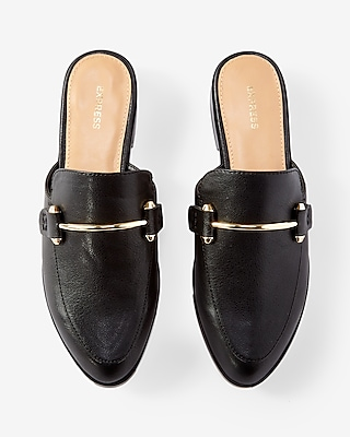 Image result for express metal embellished slide loafers