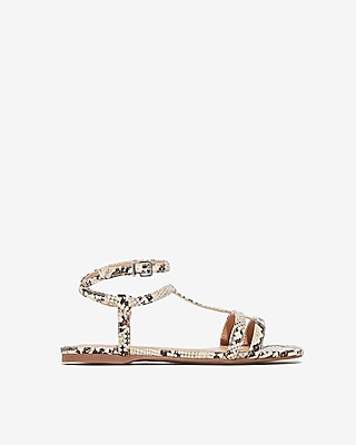 Square Toe T Strap Sandals by Express