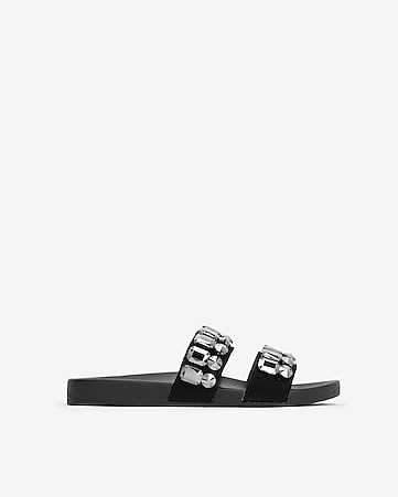 ddeb75a71f9 Express View · jeweled slide sandals