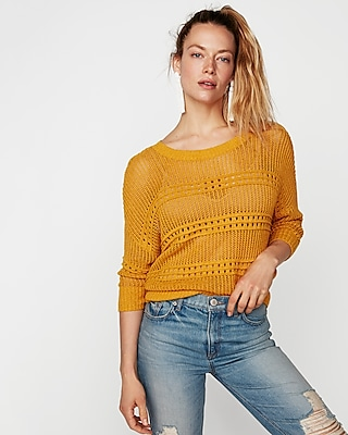 Open Stitch Pullover Sweater by Express