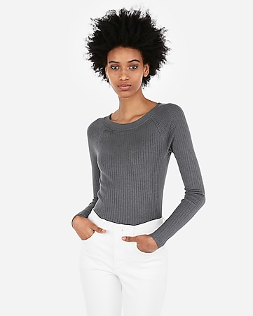 Express View · ribbed bateau neck sweater 134bd9de5