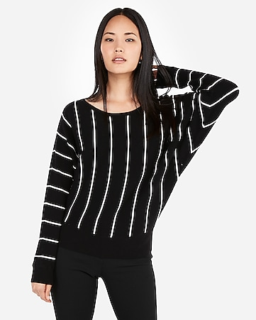 Express View · striped dolman sleeve sweater af98c673d