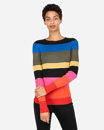 83283ec5d5055 express view · fitted color block stripe sweater