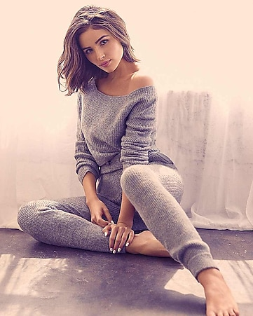 Express View · olivia culpo off the shoulder ribbed sweater dfb9ce42a