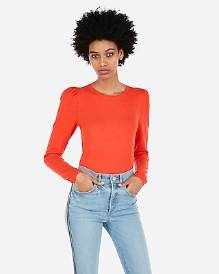Puff Sleeve Pullover Sweater by Express