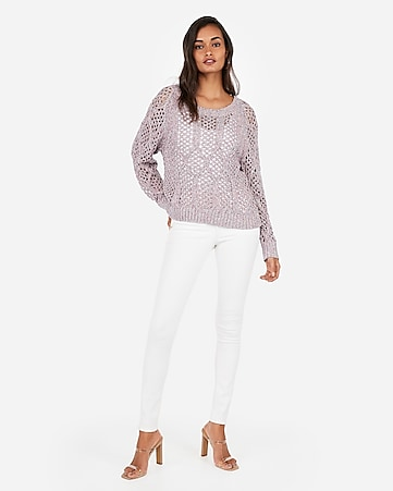 9b2c68ad357 Express View · marled cable open stitch pullover sweater