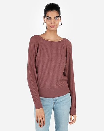 35cb424a88 Express View · open stitch dolman sweater