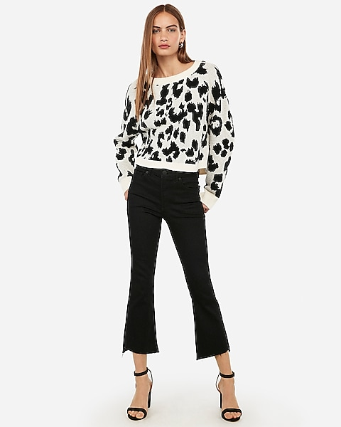hot-seeling original rich and magnificent beautiful design Leopard Print Sweater