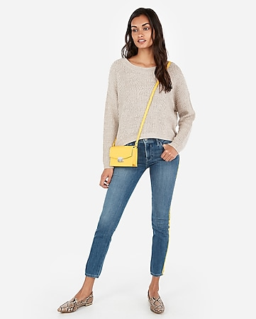 9cb360558b Express View · cable knit split back sweater