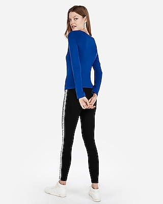 petite fitted jersey bateau neck sweater