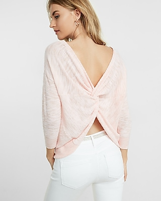 back twist bateau neck sweater express