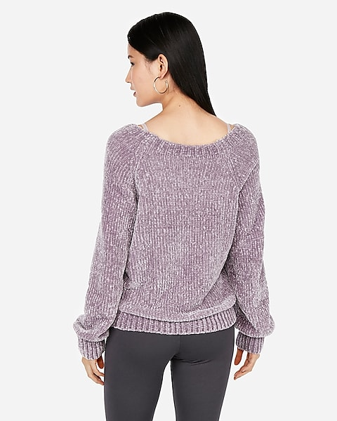 fe0c077cb97 Plush Chenille V-neck Sweater