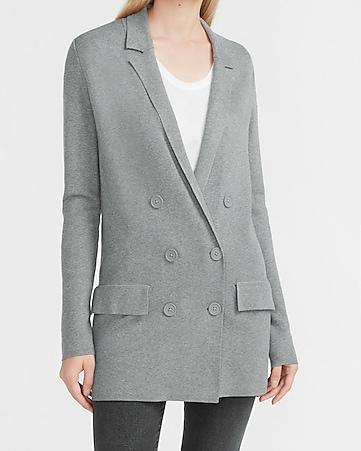 Oversized Double Breasted Sweater Jacket