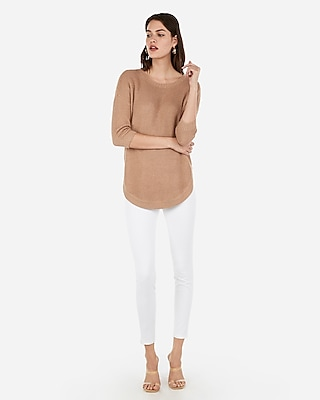 Thermal Circle Hem Tunic Sweater by Express
