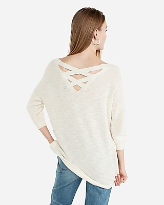 petite extreme circle hem tunic sweater