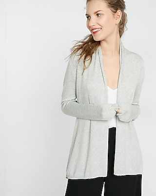 petite heathered roll neck cover-up