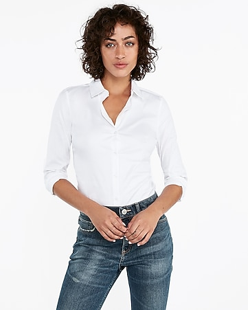 Women s Tops - Fashion   Button Up Shirts for Women - Express 3621d2ba2