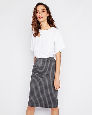 Cut Out Flutter Sleeve Tee by Express