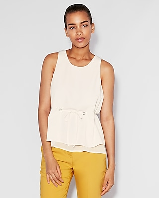 Double Layer Tie Waist Tank by Express
