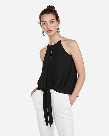 cb1643bfe5 Express View · tie hem high neck tank