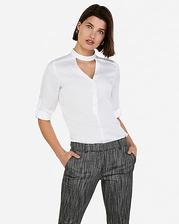 b5f8b466bb Express View · satin choker button front chelsea popover