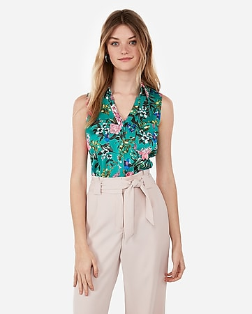 400eeb82f18760 Express View · slim fit floral garden sleeveless portofino shirt