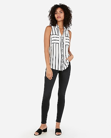 67d427c881f98 Express View · striped slim fit sleeveless portofino shirt