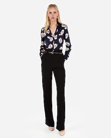 7dce1c541779b3 Express View · slim floral satin portofino shirt