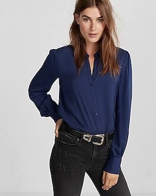 Puff Sleeve Shirt | Express