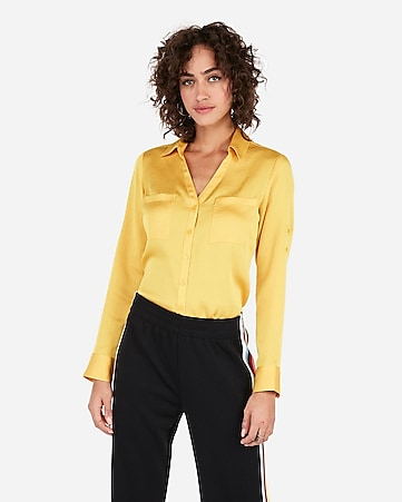 e8613e10553ef express view · slim fit satin portofino shirt