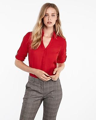 petite slim fit covered button portofino shirt
