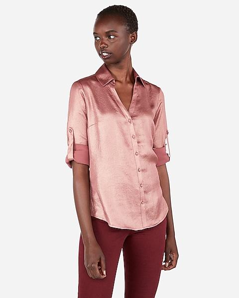 7bfe6282716a Slim Fit Convertible Sleeve Portofino Shirt. M 5b7e19e98869f76d06356997.  Express.