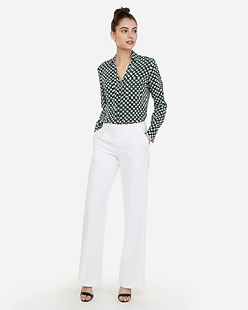 c3ecae604f9ac Slim Fit Satin Striped Ruffle Collar Portofino Shirt