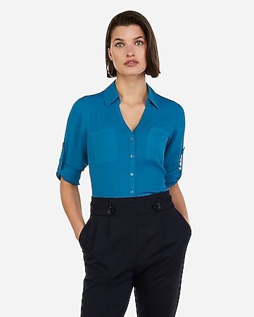 5a8ec3c7b0722 Women s Tops - Fashion   Button Up Shirts for Women - Express