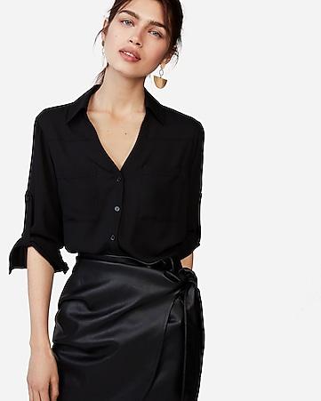 612a8d9c02459 express view · slim fit convertible sleeve portofino shirt