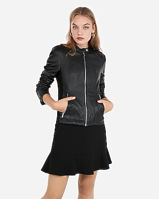 Minus The Leather Double Peplum Jacket Express