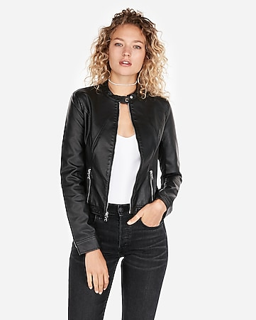 cb475a6c8b2 Women s Faux Leather Jackets - Outerwear for Women