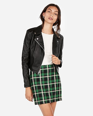 9466b011a57 Express View · (minus the) leather cropped zip moto jacket