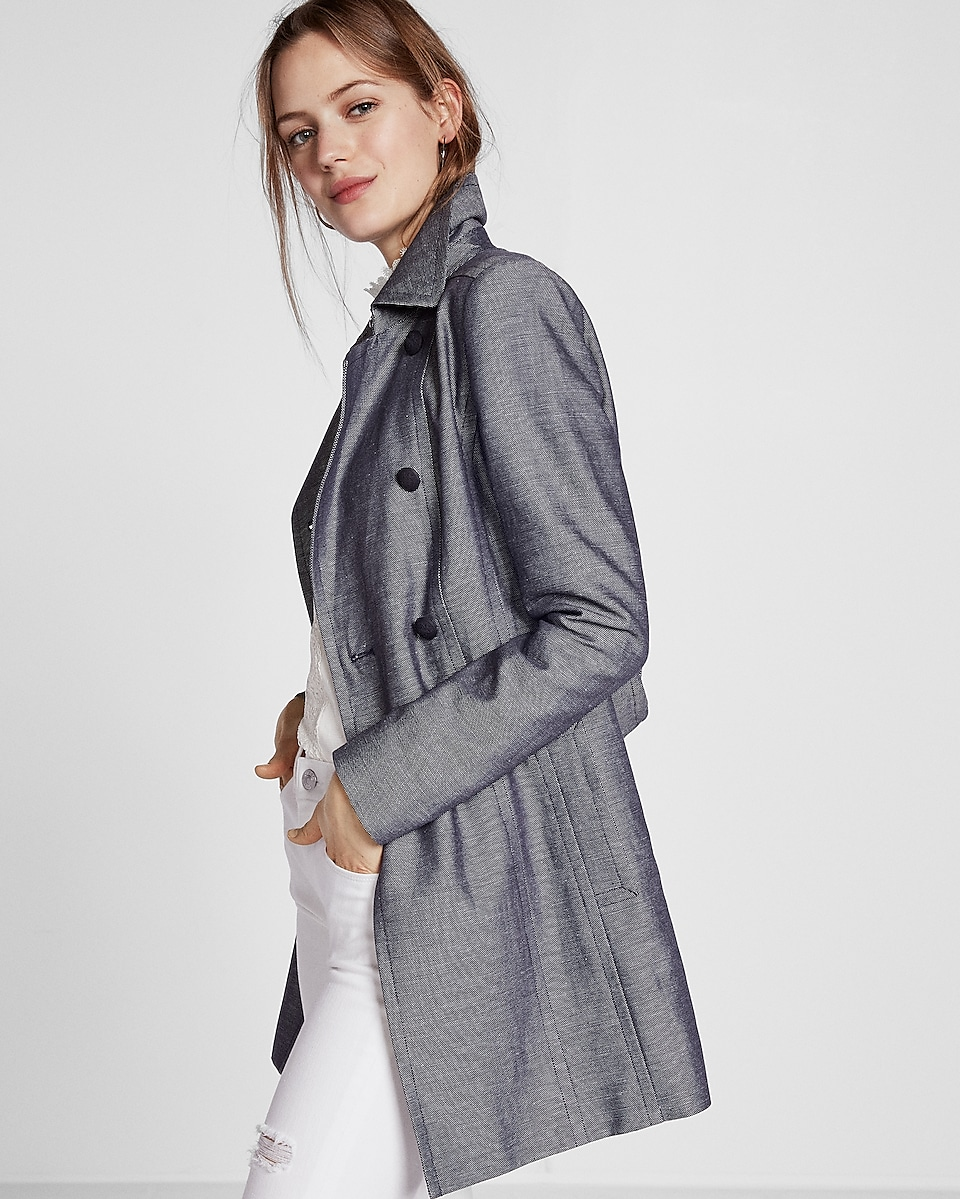 Chambray Trench Coat | Express