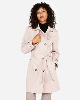 petite classic double breasted trench coat