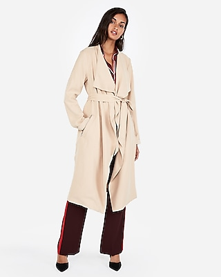 Zip Pocket Soft Trench Coat