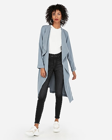 775a5cb9d6546 Express View · zip pocket soft trench coat