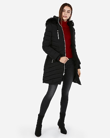 1cef27fc240 Express View · long belted puffer coat
