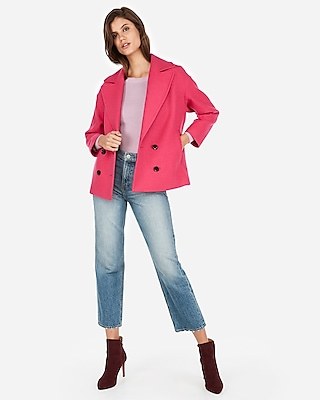 Express.com deals on Express Boxy Double Breasted Wool-Blend Coat