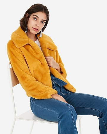019313ecf14f Express View · supersoft faux fur jacket