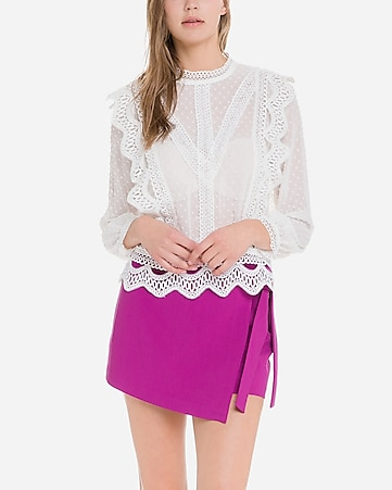 endless rose pink side tie skort