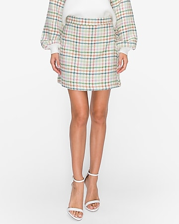 english factory plaid h-line skirt