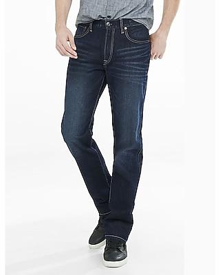 Loose Fit Straight Leg Dark Wash Jeans | Express